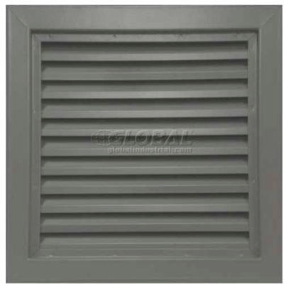 "Steel Door Louver 800A12412G, Inverted ""Y"" Blades, 50% Free Area, 24"" X 12"", Gray Primered"