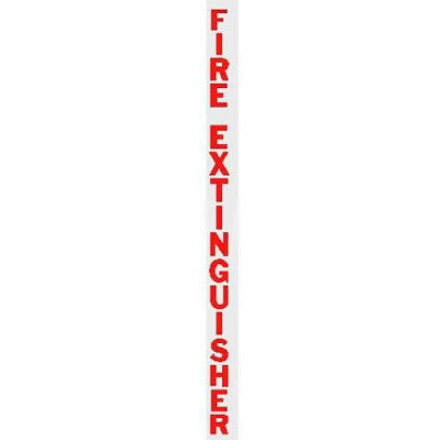 Vertical Die Cut FE Letters, Red