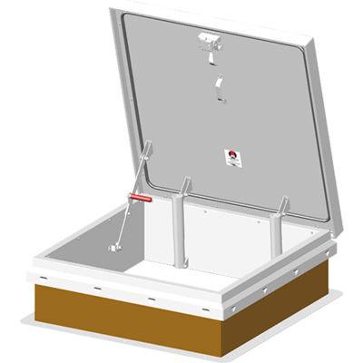 "JLIndustries® Diamond Series Galvanized Roof Hatch - 36"" W x 36""L"