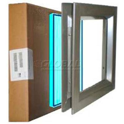 """Louver & Steel Beveled Vision Lite VLFEZ0722B KFRF PAK, 7"""" X 22"""", Kerashield Fire & Safety Glaze"""