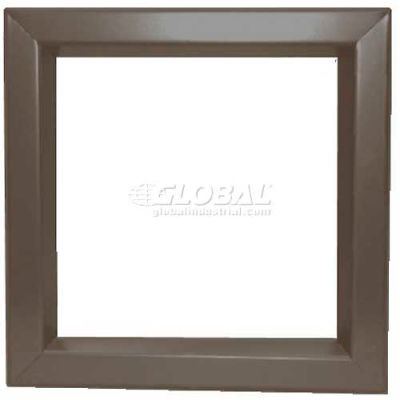 "Louver & Steel Beveled Vision Lite VLFEZ0830B, 8"" X 30"", Bronze"