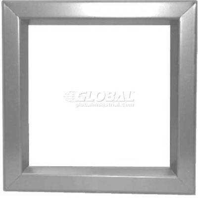 "Louver & Steel Beveled Vision Lite VLFEZ2424G, 24"" X 24"", Gray Primered"
