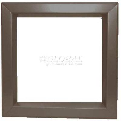 "Louver & Steel Beveled Vision Lite VLFEZ2430B, 24"" X 30"", Bronze"