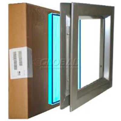 "Louver & Steel Beveled Vision Lite VLFEZ2432B TEMP PAK, 24"" X 32"", Bronze W/Tempered Glaze"