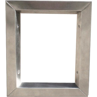 "Stainless Steel Beveled Vision Lite VLFEZS 1212, 12"" X 12"","