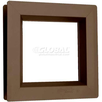 "Steel Low Profile Beveled Slimline Vision Lite VSL0520B, 5"" X 20"", Bronze"