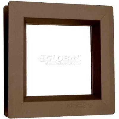 "Steel Low Profile Beveled Slimline Vision Lite VSL0722B, 7"" X 22"", Bronze"