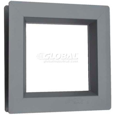"Steel Low Profile Beveled Slimline Vision Lite VSL0832G, 8"" X 32"", Gray Primered"