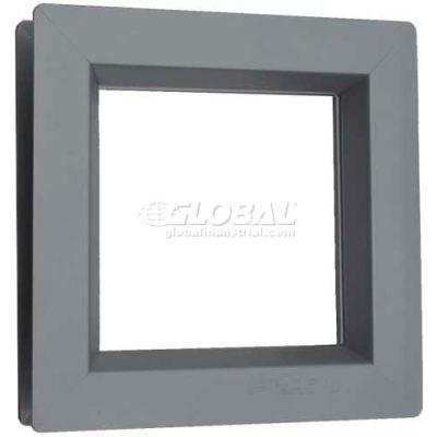 """Steel Low Profile Beveled Slimline Vision Lite VSL2424G, 24"""" X 24"""", Gray Primered"""