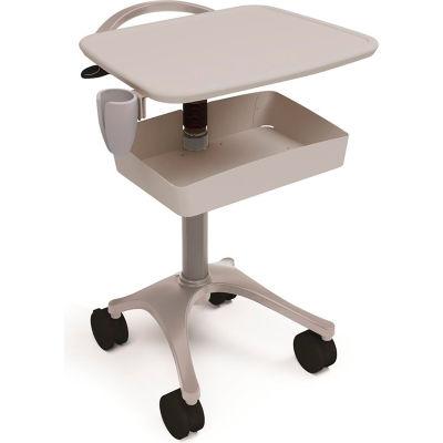 Ergotron® Zido® Ultrasound Medical Cart, Cool Gray