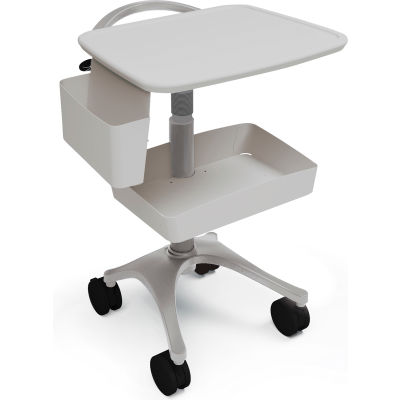 Ergotron® Zido® EKG Medical Cart, Cool Gray