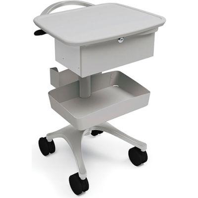 Ergotron® Zido® Phlebotomy Medical Cart, Cool Gray