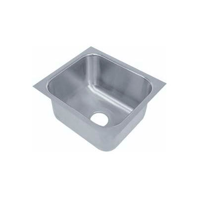 """Advance Tabco® Under Mount Sink, One Compartment, 10L x 14W Bowl, 5"""" Overall Height, 20 Gauge"""
