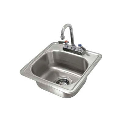 Advance Tabco® Drop In Sink, One Compartment 12-1/4L x 10-1/4W x 6D Bowl W/Rimmed Edge