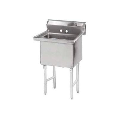 Advance Tabco® FE-1-1812-X NSF Fabricated 1 Compartment Sink, 18L x 18W Bowl, 9 Splash, 18Ga.