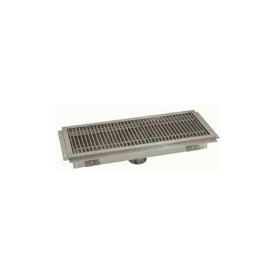 Floor Trough, 48L x 12W x 4H, Stainless Steel Grate Single Drain