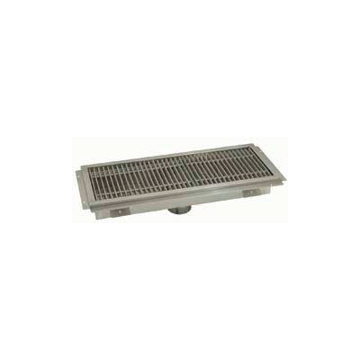 Floor Trough, 60L x 18W x 4H, Stainless Steel Grate Single Drain