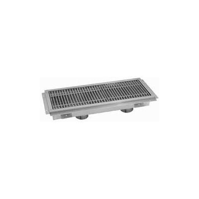 Floor Trough, 96L x 18W x 4H, Stainless Steel Grate Double Drain