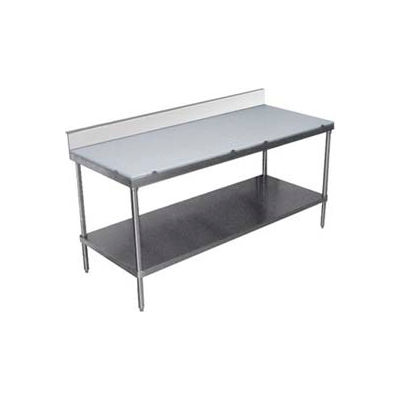 """Advance Tabco SPS-306 Work Table Poly-Vance Cutting Surface Top 6"""" Backsplash 72""""W x 30""""D"""
