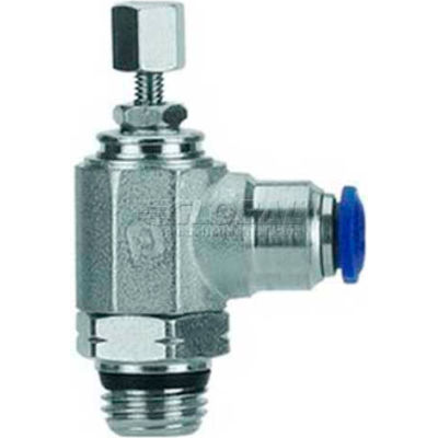 "AIGNEP Flow Control 50915N-12-3/8, Knob Adj, Flow In, 12mm, 3/8"" Swift-Fit Universal Thread - Pkg Qty 2"