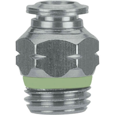 """AIGNEP Straight Male Connector, 60020-12-3/8, 12mm Tube x 3/8"""" BSPP Thread, Stainless Steel"""