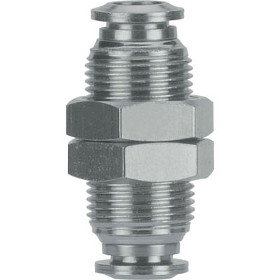 AIGNEP Bulkhead Union, 60050-4, 4mm Tube, Stainless Steel