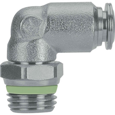 """AIGNEP Swivel Male Elbow, 60110-6-1/4, 6mm Tube x 1/4"""" BSPT Thread, Stainless Steel"""