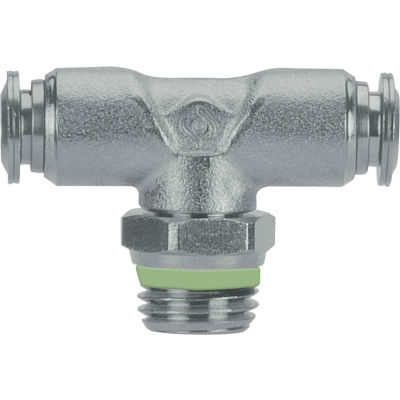 """AIGNEP Swivel Branch Tee, 60215-12-3/8, 12mm Tube x 3/8"""" Male BSPP Thread, Stainless Steel"""