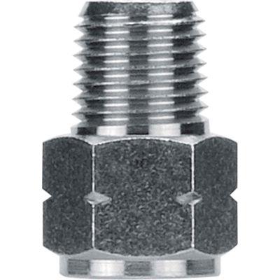 "AIGNEP Adapter, 82241N-02-02, 1/8"" Male NPTF x 1/8"" Female G Thread, Nickel Plated Brass - Pkg Qty 5"