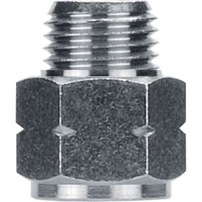 "AIGNEP Adapter, 82242N-08-08, 1/2"" Male G Thread x 1/2"" Female NPTF, Nickel Plated Brass - Pkg Qty 3"