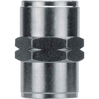 "AIGNEP Female Coupling, 82300N-04, 1/4"" NPTF, Nickel Plated Brass - Pkg Qty 5"
