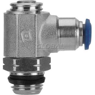 "AIGNEP Flow Control 88953-04-32, Screw Adj, Flow Out, 1/4"" Tube x 10-32 UNF Thread - Pkg Qty 2"
