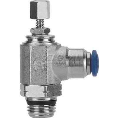"""AIGNEP Flow Control 88958-04-02, Knob Adj, Flow Out, 1/4"""" Tube x 1/8"""" Swift-Fit Universal - Pkg Qty 2"""