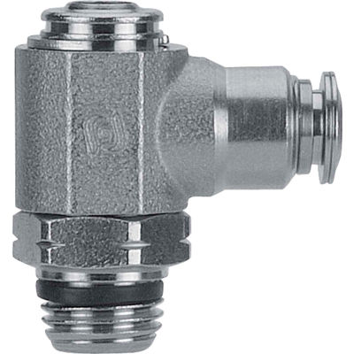 "AIGNEP Flow Control, 89963-04-02, Screw Adj., 1/4"" Tube x 1/8"" Swift-Fit, Metallic Collet"