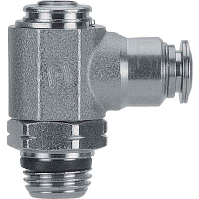 "AIGNEP Flow Control, 89963-08-06, Screw Adj., 1/2"" Tube x 3/8"" Swift-Fit, Metallic Collet"