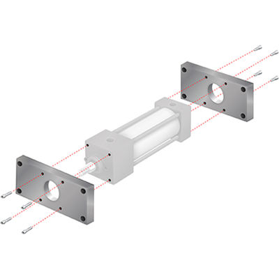 """Aignep USA MF1/MF2 Flow Mount Kit 3-1/4"""" Bore NFPA Cylinder"""