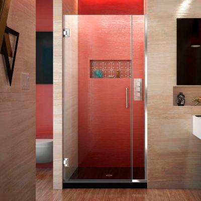 """Dreamline SHDR-243007210-01 Unidoor Plus Hinged Shower Door, Chrome, 30 to 30-1/2"""" x 72"""""""