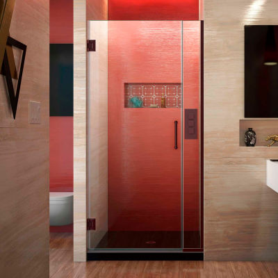 "Dreamline SHDR-243057210-06 Unidoor Plus Hinged Shower Door, Bronze, 30-1/2 to 31"" x 72"""