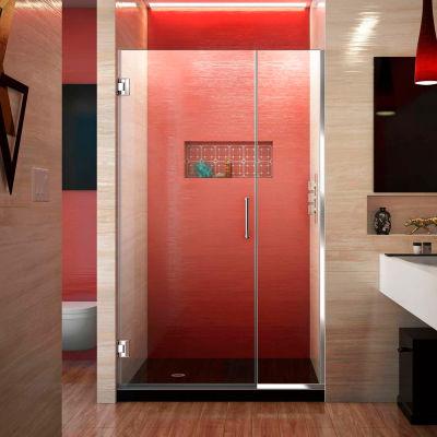 """Dreamline SHDR-243707210-01 Unidoor Plus Hinged Shower Door, Chrome, 37 to 37-1/2"""" x 72"""""""