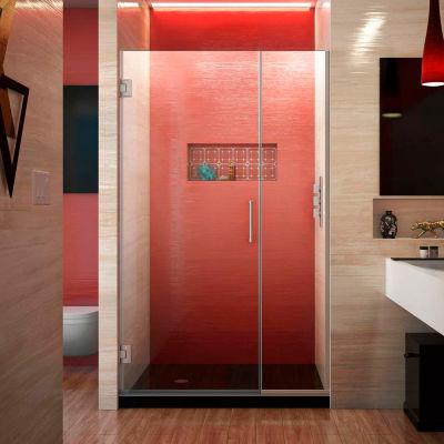 """Dreamline SHDR-243757210-04 Unidoor Plus Hinged Shower Door, Brushed Nickel, 37-1/2 to 38"""" x 72"""""""