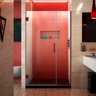 """Dreamline SHDR-243757210-06 Unidoor Plus Hinged Shower Door, Bronze, 37-1/2 to 38"""" x 72"""""""