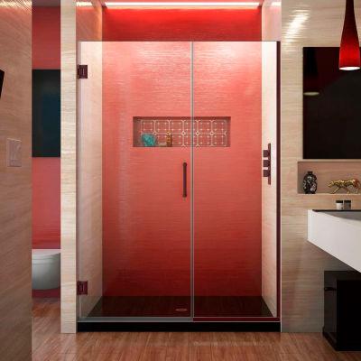 """Dreamline SHDR-245157210-06 Unidoor Plus Hinged Shower Door, Bronze, 51-1/2 to 52"""" x 72"""""""