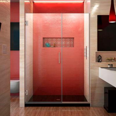 """Dreamline SHDR-245207210-04 Unidoor Plus Hinged Shower Door, Brushed Nickel, 52 to 52-1/2"""" x 72"""""""