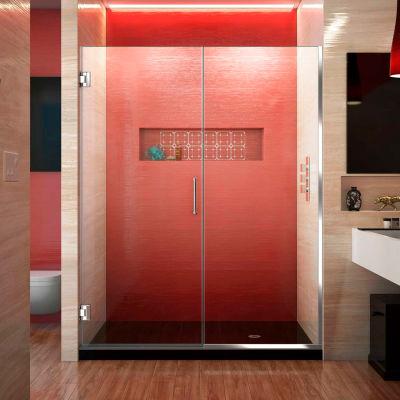 """Dreamline SHDR-245757210-01 Unidoor Plus Hinged Shower Door, Chrome, 57-1/2 to 58"""" x 72"""""""