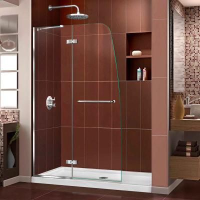 """DreamLine SHDR-3445720-01 Aqua Ultra 45"""" Frameless Hinged Shower Door Chrome Finish"""