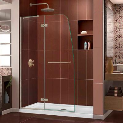 "DreamLine SHDR-3445720-04 Aqua Ultra 45"" Frameless Hinged Shower Door Brushed Nickel Finish"