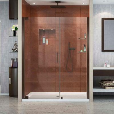 "Dreamline SHDR-4149720-06 Elegance Pivot Shower Door, Bronze, 49-1/4 to 51-1/4"" x 72"""