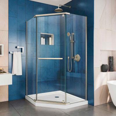 """Dreamline SHEN-2138380-04 Prism Pivot Shower Enclosure, Brushed Nickel, 38-1/8"""" x 38-1/8"""" x 72"""""""