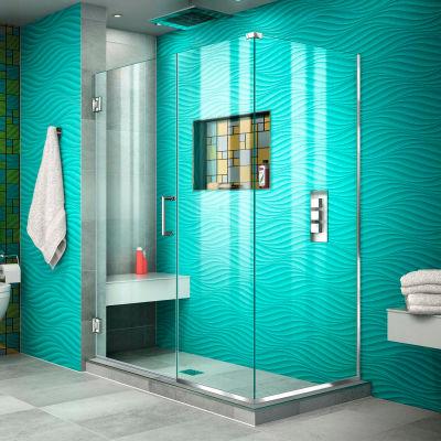 """Dreamline SHEN-24500300-01 Unidoor Plus Hinged Shower Enclosure, Chrome, 50"""" x 30-3/8"""" x 72"""""""