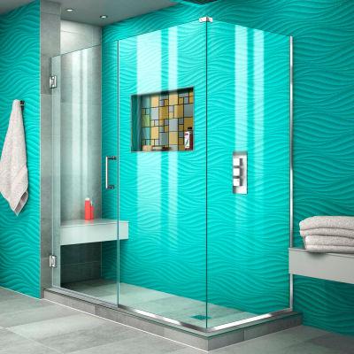 """Dreamline SHEN-24575340-01 Unidoor Plus Hinged Shower Enclosure, Chrome, 57-1/2"""" x 34-3/8"""" x 72"""""""